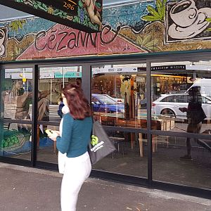 New Entrance for Cafe Cezanne